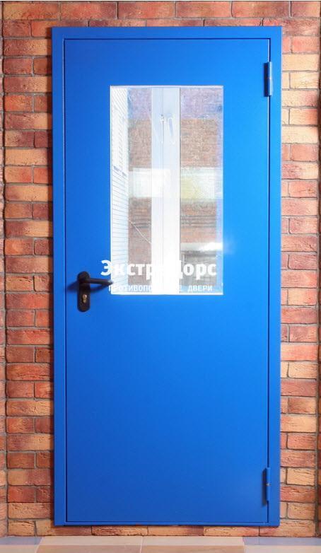 дверь противопожарная металлическая со стеклом