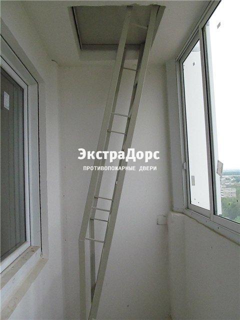 Люк противопожарный с выдвижной лестницей - купить в москве .