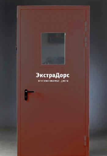 коричневая металлическая дверь противопожарная