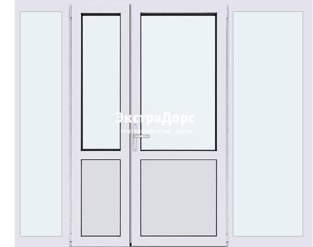 Автоматические ворота с остеклением